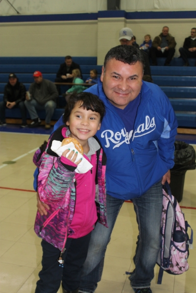 SCA first grade student Mari Becerra enjoyed an extra special morning with her dad Juan at SCA's Donuts with Dad today.