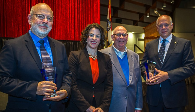 (from left) Rex Brown, Rachel Segobia, Mayor Randy Rhoads and Bob Crance.