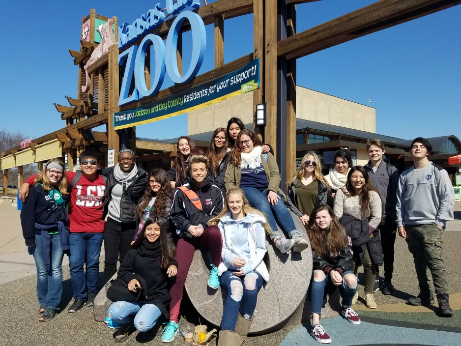 Students visited the Kansas City Zoo.