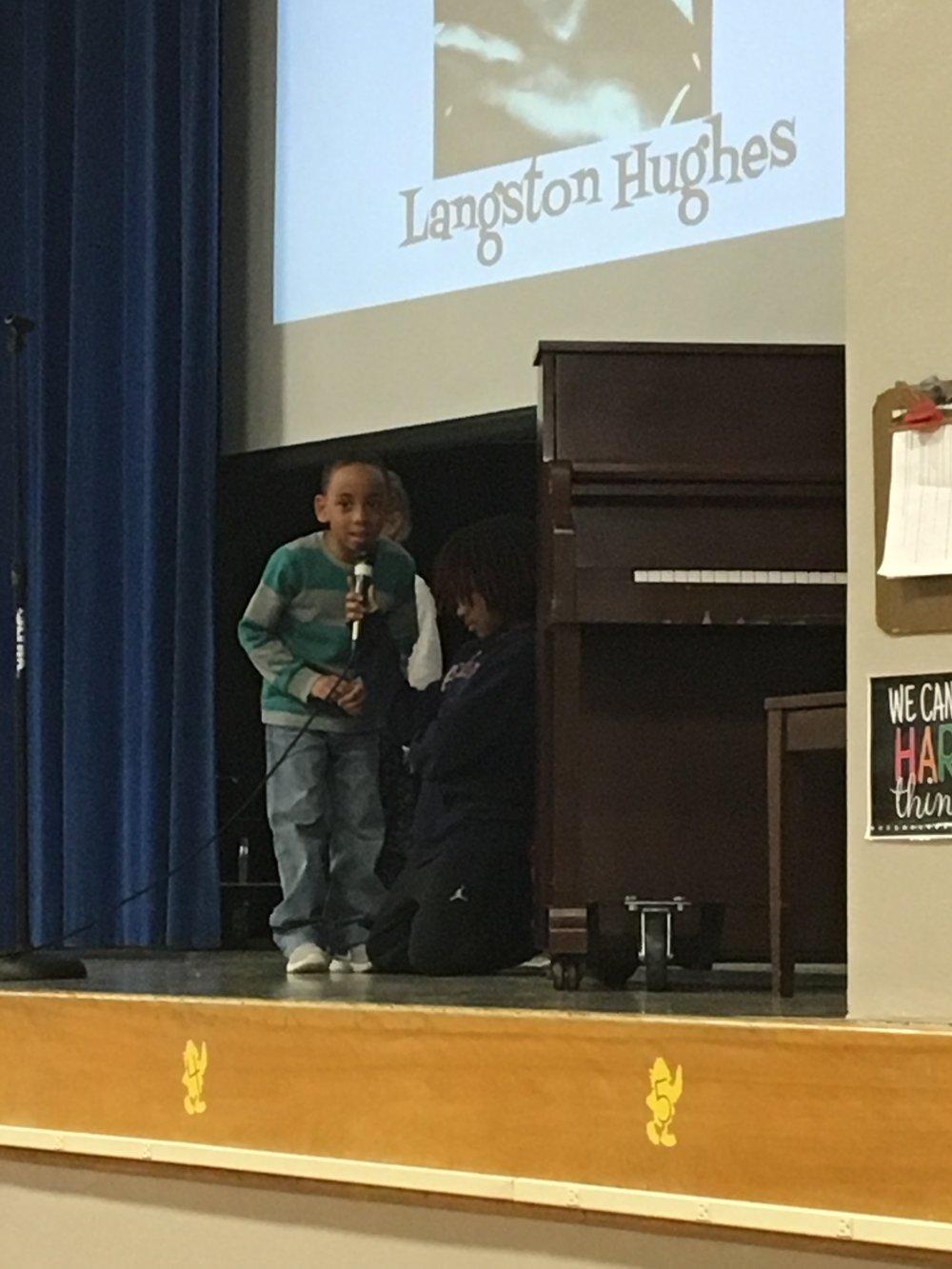 Dominic Pabon honors Langston Hughes.