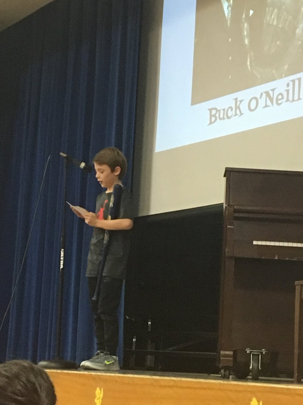Grayson Groves honors Buck O'Neil.