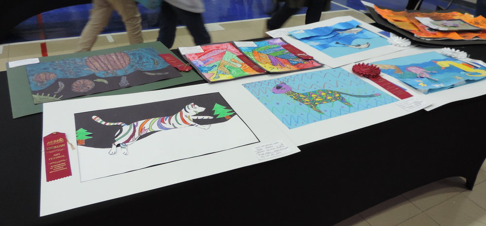 Pieces of artwork lined the SCA gymnasium recently as they hosted the ACSI's Speech Competition, Art Fair, and Music Festival.