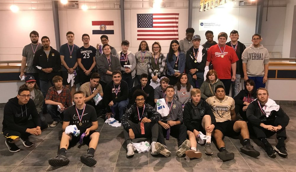 LSHS students earning first place at the district contest are (back row, from left) Jordon Winkler, Caleb Schur, Joe Licata, Noah Koontz, Kyle Mc Williams, River Wyrick, Veronica Dyer, AJ Schur, Gabby Byers, Makayla Vasquez, Pierre Campbell, Max Havens, Mitchell Tinsley, Kaleb Keith, Anthony Mixon, Micah Debban, (middle row, from left) Kat Klingsick, Justin Halverson, Jake Chajnacki,Charlie Licata, Kyle Myers, Mike Gannon, Jen Willis, Caylee Smith, Jake Tracy,(front row, from left) Jaryn Jacobs, Tristin Wells, Jaden Alexander, Trent Fell,Jacob Mrachek, Victor Hochstetler and Prestin Six. Students not pictured are Nathan Kump, Zack McKitterick, Dadrain Collier, Jonathan Crance, Michael Garozzo, JJ Medrano, Hunter McDanald, Nicholas McNealy, Maquire Moore, Jacob Mannin, Curtis Armon, Nathan Bilbreath, Chase Roberts, Justin Roberts, Riley Wilson, Blair Campbell, Austin Schuman, Audrey Fleshcute, Nathan Shotts, Jeff Scott, Andy Rogers, Max Bresette, Aiden Nybus, Micah Debban, Libby Barker, Keith Nicholas, Cameo Sok and Amy Tippin.