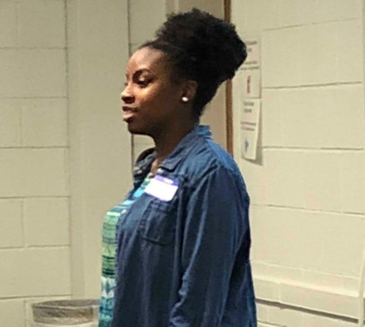 Schyler Turner, a junior at LSHS, recites her award-winning oratory on overcoming adversity.