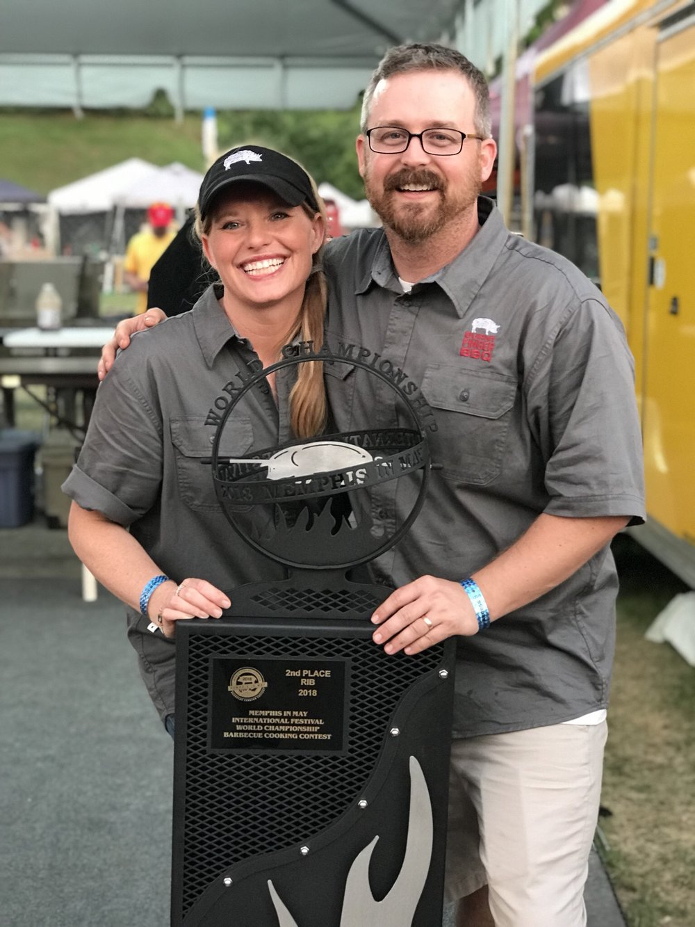 Megan and Jason Day nabbed second place in ribs at the prestigious Memphis in May International Festival World Championship Barbecue Cooking Contest.