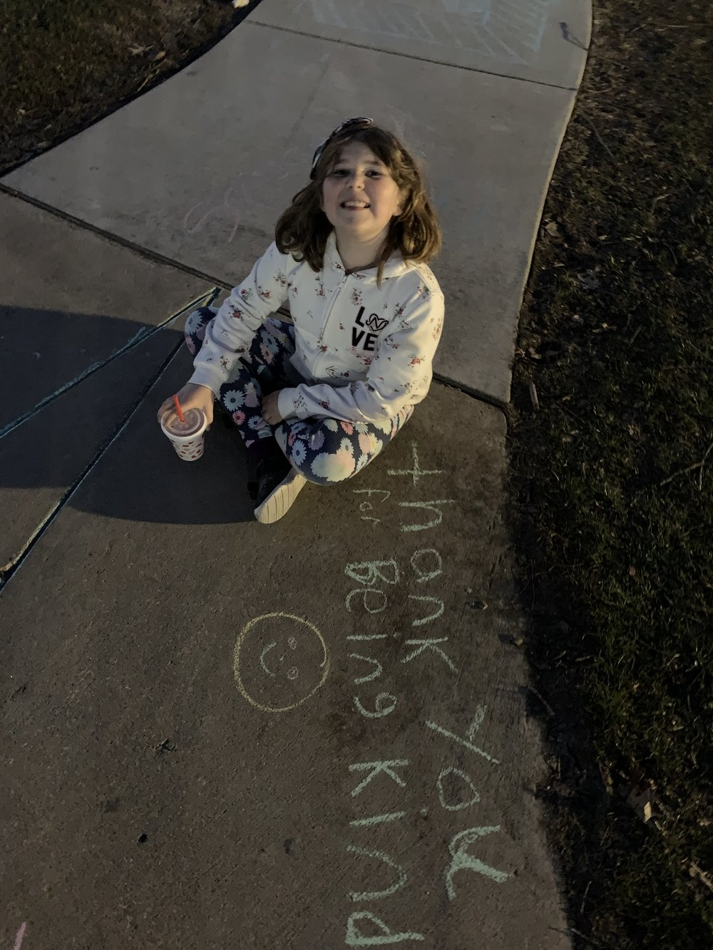 There were no travel plans for this year's spring break and that's more than OK for John Beaudion and his daughter, Addy.  (Photo courtesy John Beaudoin.)