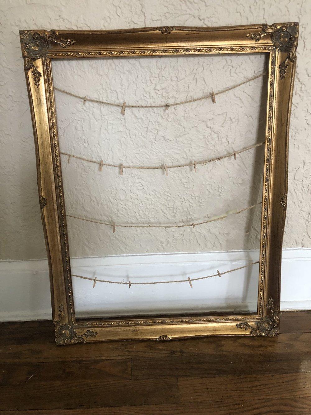 Vintage Gold Frame -