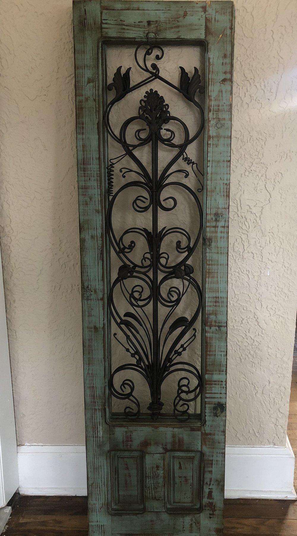 Robin's Egg Blue Decorative Door Panels - (Quantity: 2)