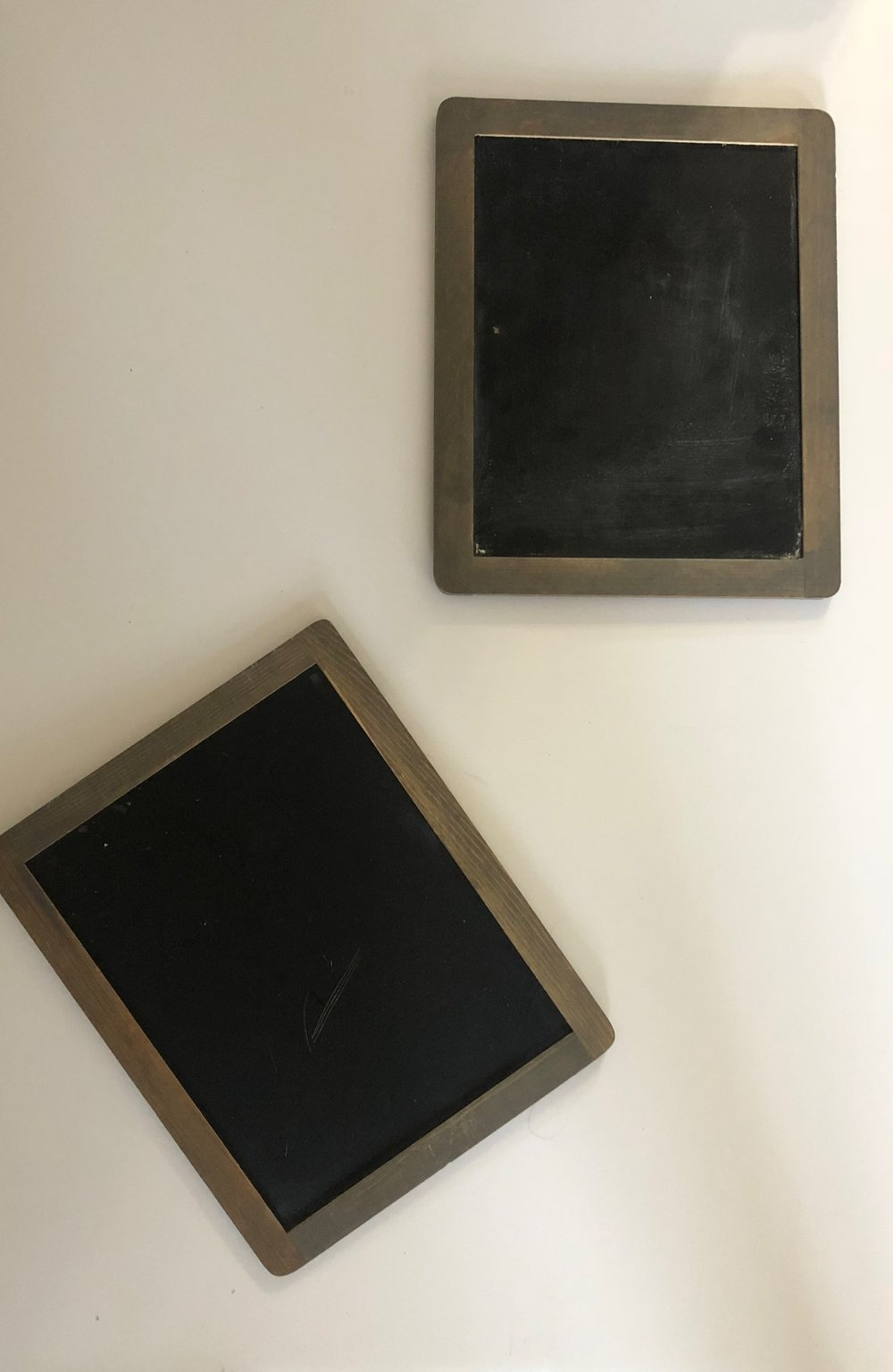 Small chalkboard signs - These must be used with actual chalk - not chalk pens or paint pens.(Quantity: 2)