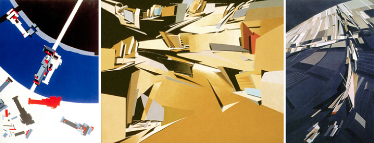 Zaha Hadid's drawing. Image from Lebbeus Woods blog