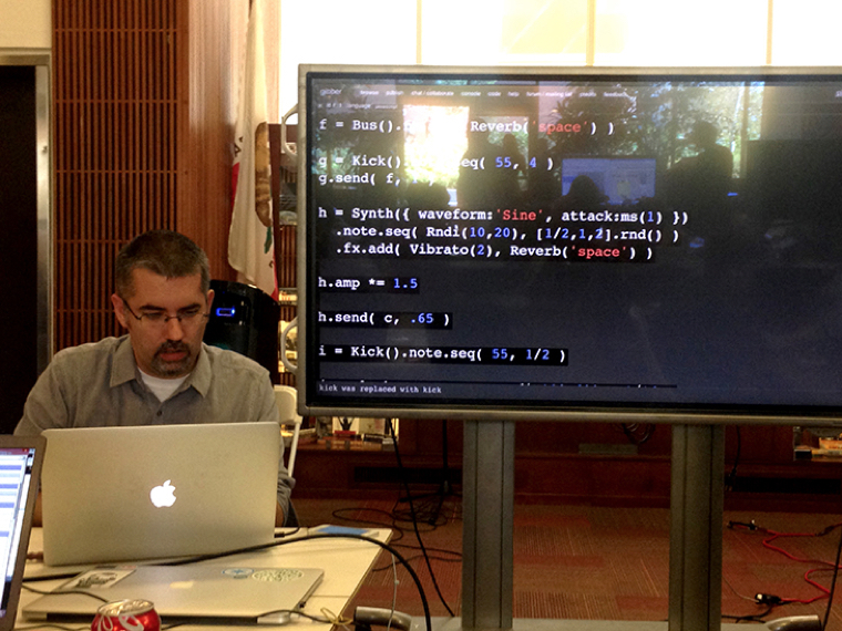Music and Live Coding performance by  Charlie Roberts