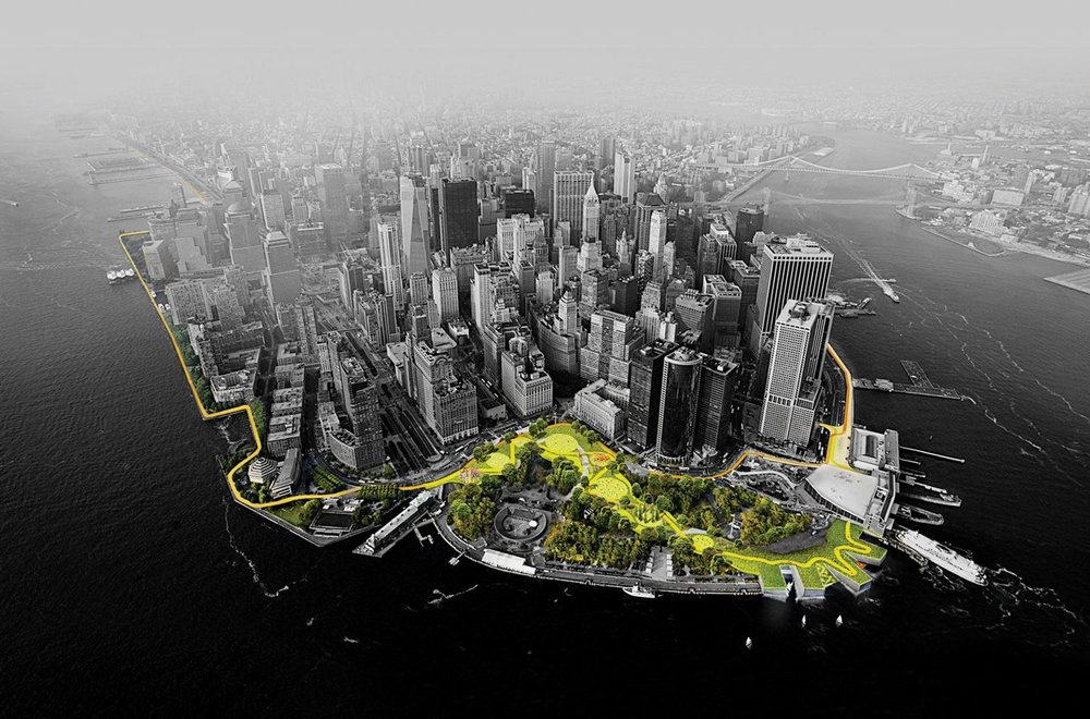 "The Dryline, New York. The Big U - better known as ""The Dryline"" - is BIG's response to an open call from Rebuild by Design, a $1 billion federal initiative to repair damage to New York in the wake of hurricane Sandy"