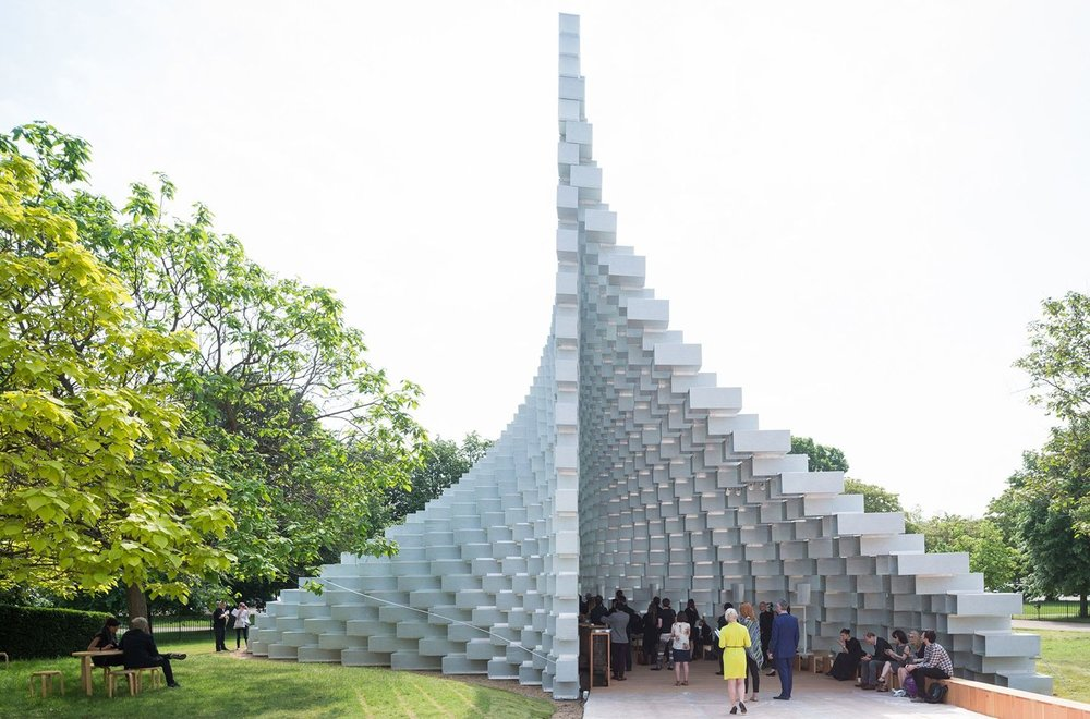 The Serpentine Gallery's annual summer pavilion in Hyde Park, Londo