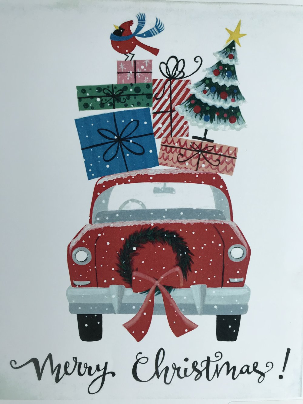 Merry Christmas Car