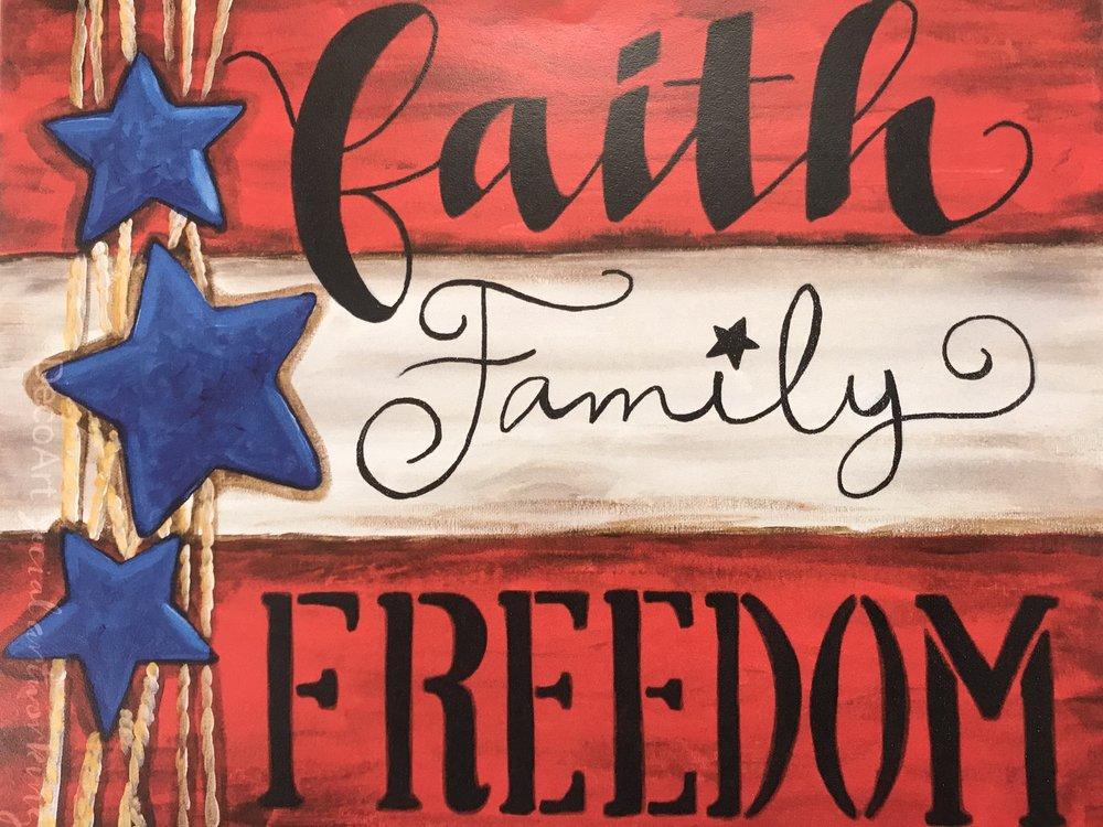 Faith, Family, Freedom