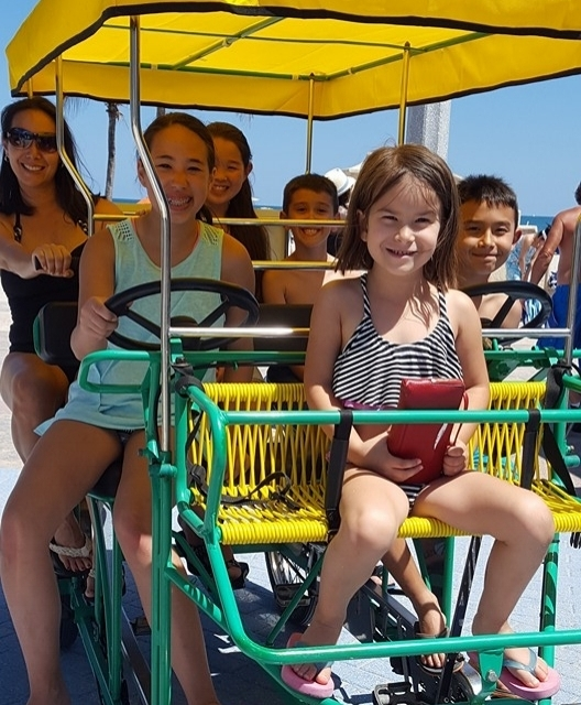 Our Story... - Conveniently located on the Hollywood Beach Broadwalk, which offers 2.5 miles of beautiful beach, providing riders relaxation with an ocean view, Hollywood Beach Trikke opened up back in fall of 2009 when then fitness enthusiast Dan Sedino suffered a work-related back injury. Looking to get back into his passion of sport, fun, and fitness Dan utilized his knowledge and experience to combine something he loved into something that could provide for his family. With his son at his side, the duo set off to create a Disney land experience in their own backyard of South Florida creating an opportunity that would sustain generations to come.