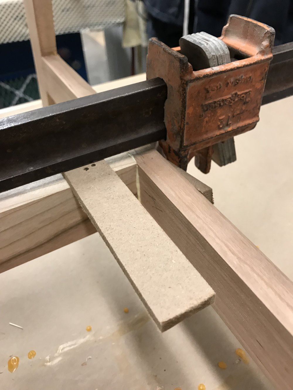 Glue up for the cross leg support