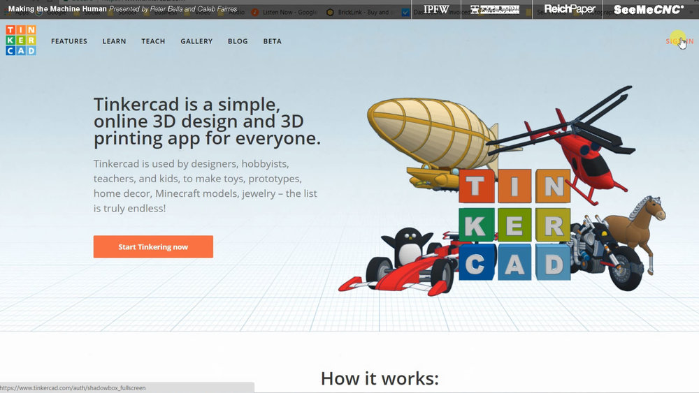 TinkerCAD was used, again, to keep things affordable and easily accessible to anyone who wants to build off what we've done.