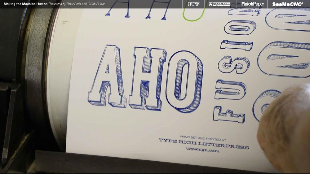 Triangle, square, and circle letterforms in alphabetical order. No, I'm not calling you a ho.