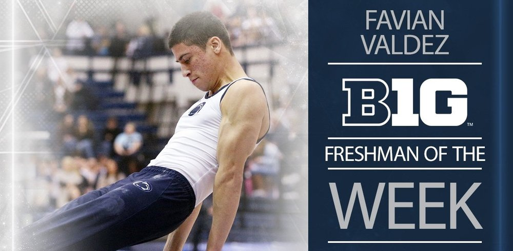Favian Valdez  ('16) was the Big Ten Freshman of the Week!