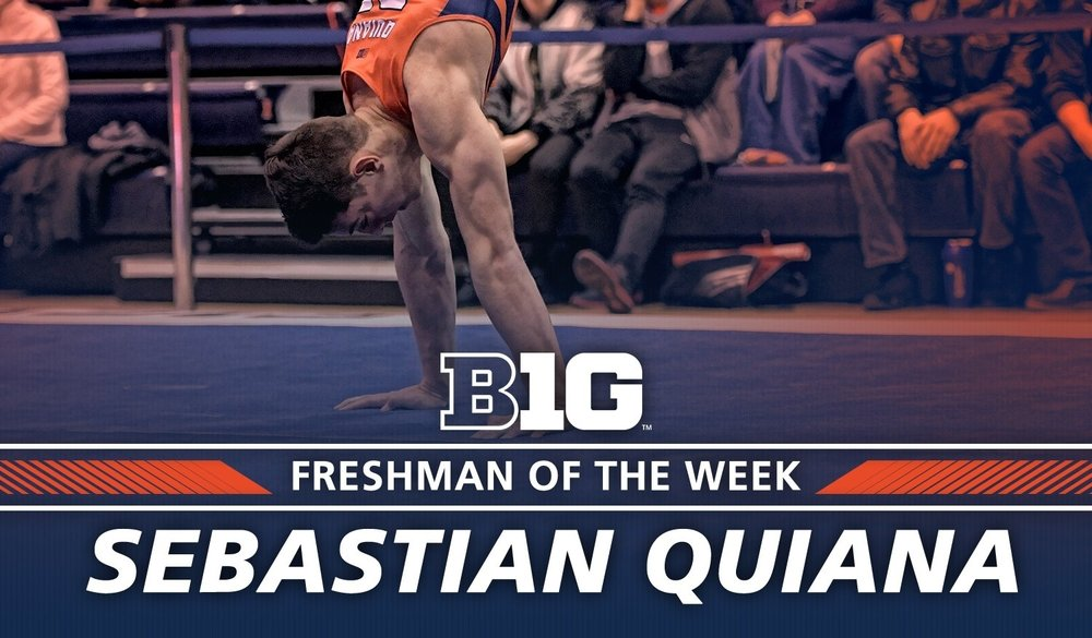 Sebastian Quiana  ('16) was the Big Ten Freshman of the Week!