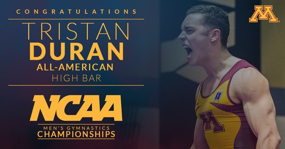 Tristan Duran  was a  2x All-American  at the 2017  NCAA Championships!