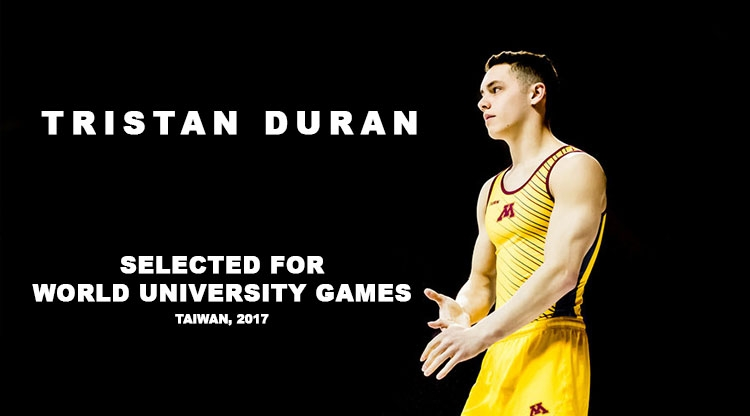 Tristan Duran  will represent  TEAM USA  at the 2017  World University Games  in Taiwan!