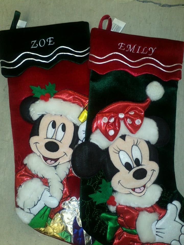 Christmas stockings (stockings not supplied)