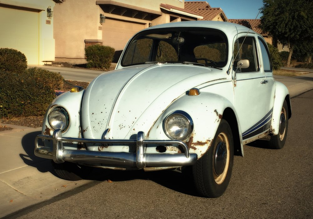 My 67 VW light blue bug