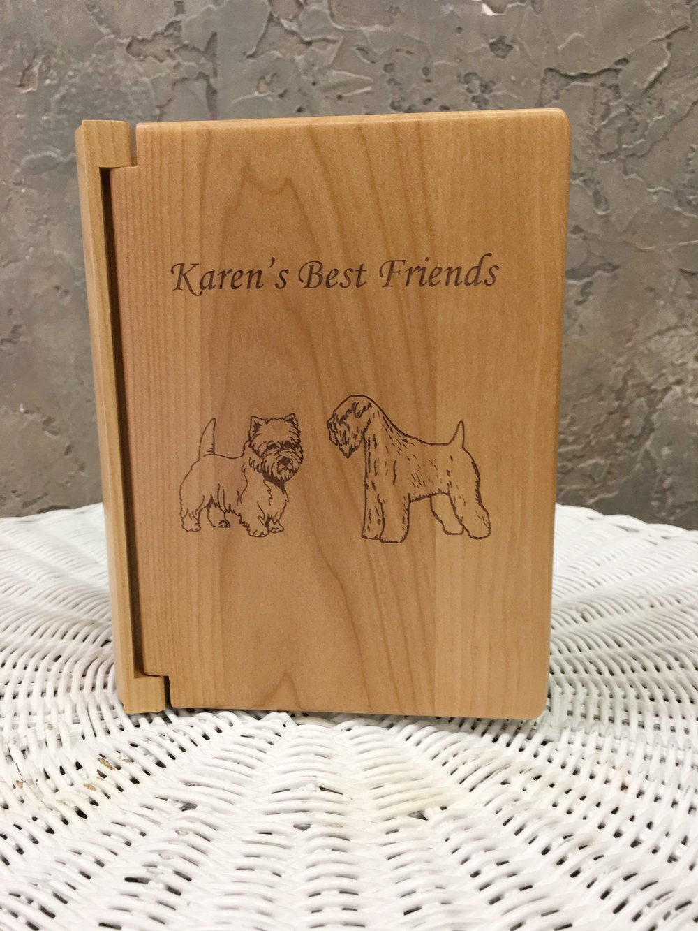 Engraved Wood Photo Albums
