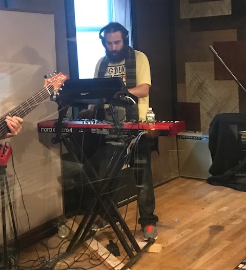 Keys-Piano-Moog - Danny Bedrosian tracked some melodies and rhythms, some very funky Moog and even played the Steinway piano in the corner. The band was smoking that day and wrote so much material we have enough for a whole nother album.