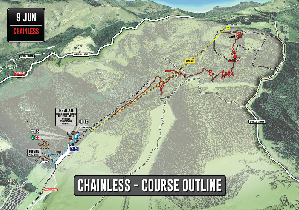 Christchurch Adventure Park - Chainless Course Outline