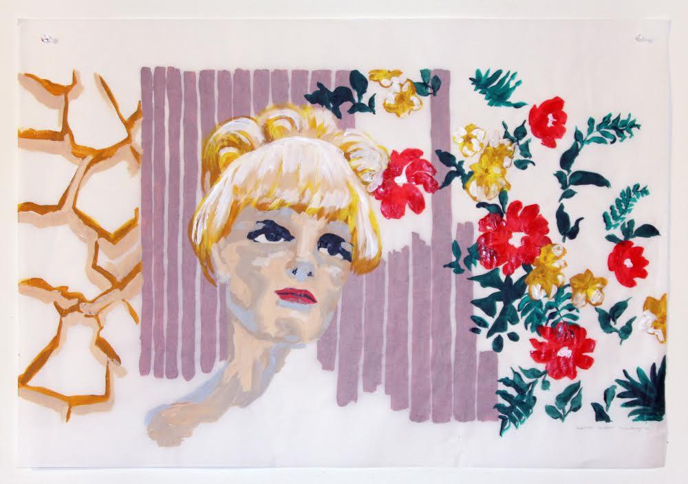 anda (recto), acrylique sur papier suédois, 62 x 88,5 cm, 2017.