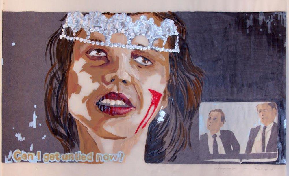Buffy 1 (recto), acrylique sur papier suédois, 62 x 88,5 cm, 2017.