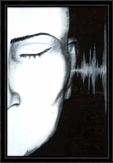 « Ecoute»– Crayons Comté, Fusains et Pastels, Papier Ingres – 16x24