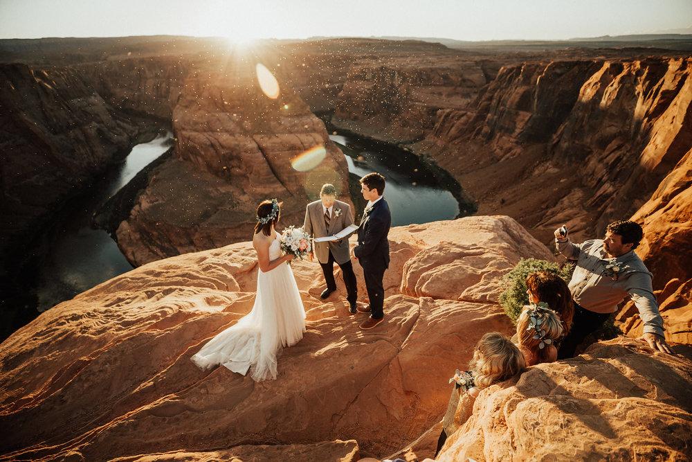 Adventurous Horseshoe Bend, Page Arizona Intimate elopement