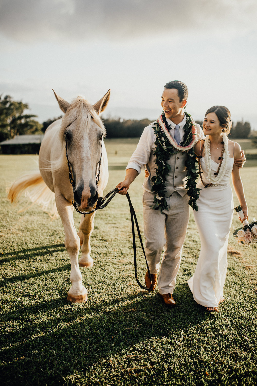 Sunset Ranch Wedding Oahu Hawaii