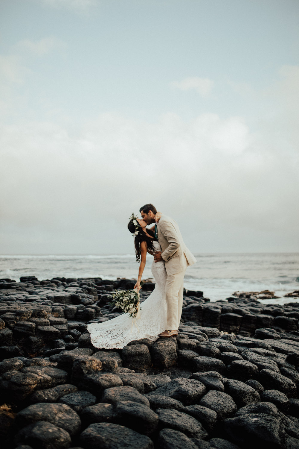 Kauai Beach House Destination Wedding