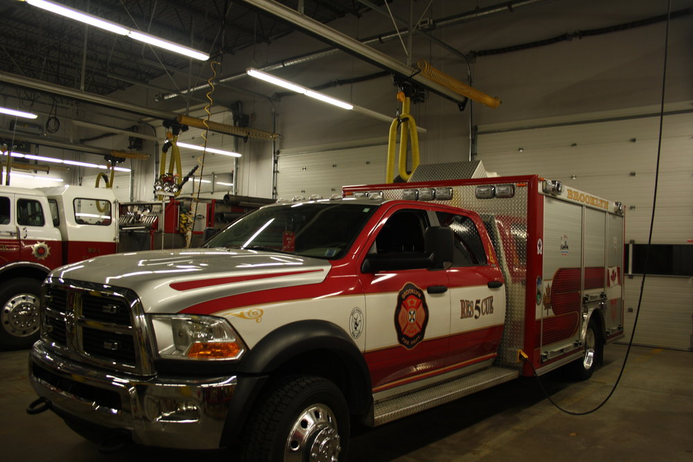 Rescue five is a 2011 Dodge Ram 5500 Four wheel drive.