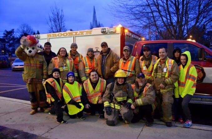 Rescue 5 and the BFD crew taking part in the Annual Christmas Angles Walk. Winter 2016