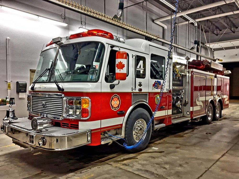Truck four is a 2005 American LaFrance Eagle Pumper Tanker. It has a 1750 GPM pump and it carries 2000 gallons of water.