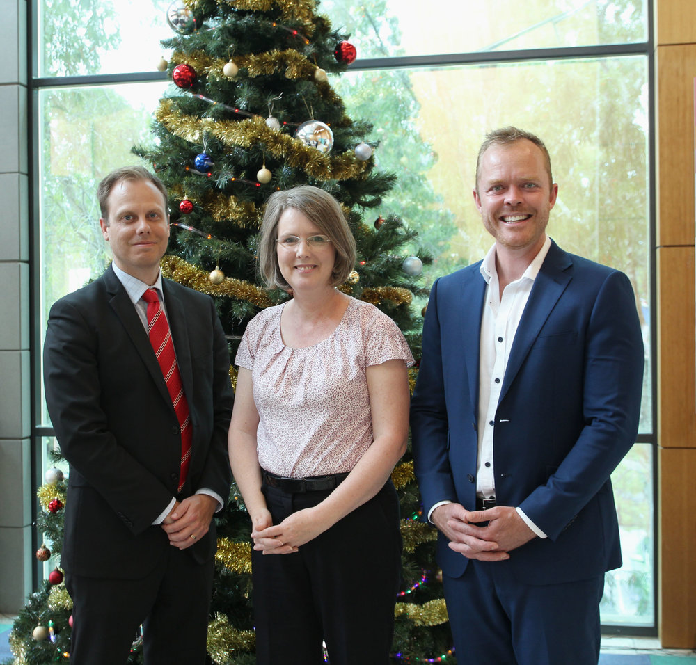 Shannon Davies, Megan Keep (Development Manager, Telethon Kids Institute) and Dr Blake Horner (Nervana Chiropractic Applecross)