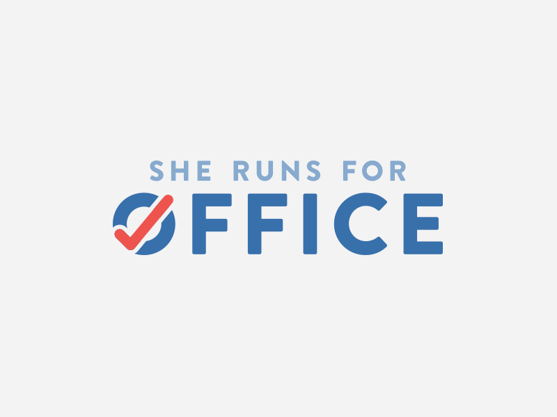 She Runs for Office Logo Design