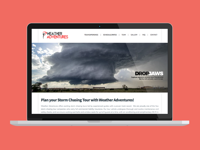 Weather Adventures Website Design