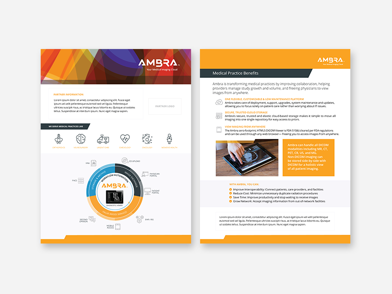 Ambra Partner Marketing Materials