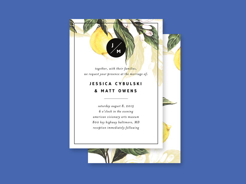 Jess & Matt Wedding Invitation
