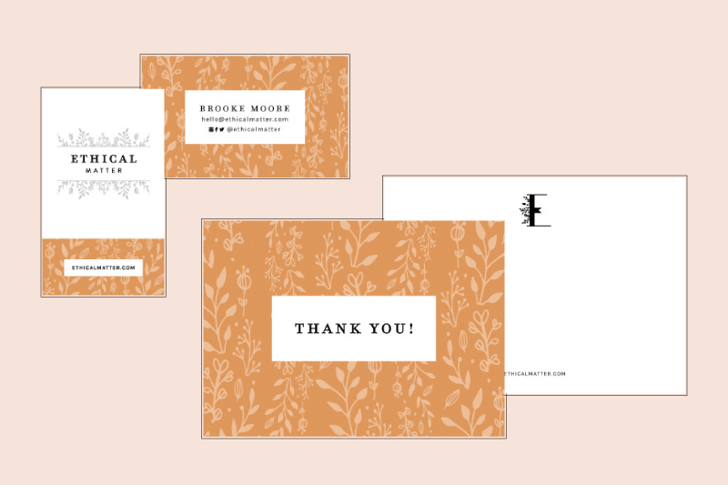 Business Cards & Thank You Postcards