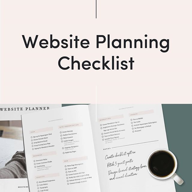 Latest on the blog 👉 a website planning checklist so nothing slips through the cracks, free download included!  Link in description 👩🏼‍💻