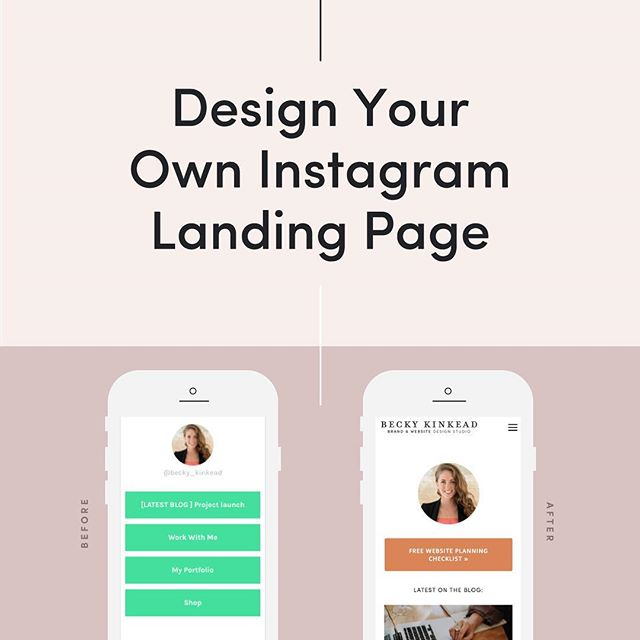 On the blog: You can design your own landing page for your Instagram to easily share your content & a variety of links! 👩🏼‍💻