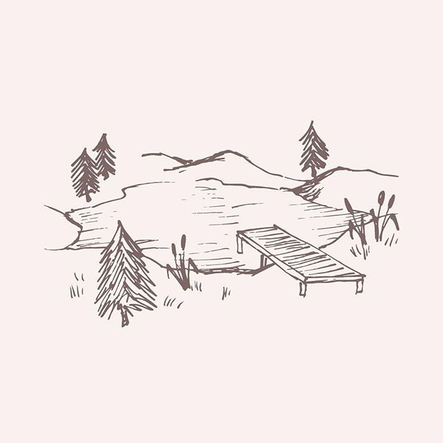 Looking forward to some sunnier weather this week in our little lake town ☀️ 🛶 ⠀ ⠀ illustration by lemonade pixel on @creativemarket